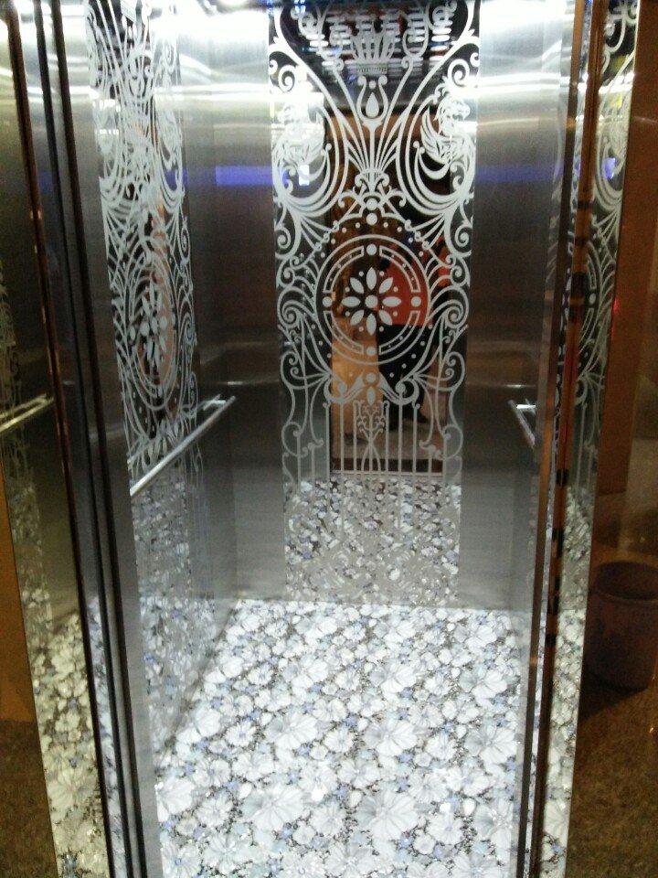 Cabin inox hoa văn thang máy