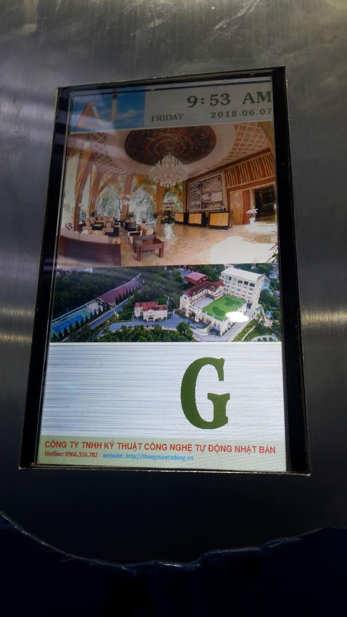 Hiển thị LCD trong thang máy đẹp