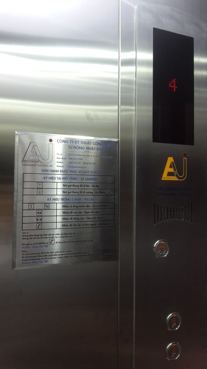 Hiển thị LED trong cabin thang máy